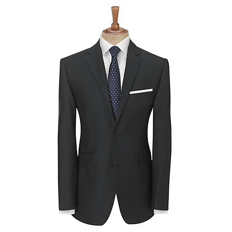 Buy John Lewis Tailored Wool Herringbone Suit Jacket, Blue Online at johnlewis.com