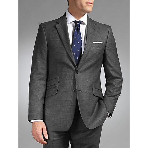Buy John Lewis British Checked Suit Jacket, Charcoal Online at johnlewis.com