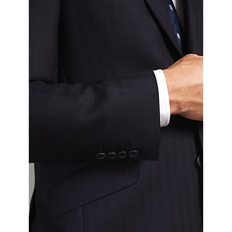Buy John Lewis British Herringbone Suit Jacket, Navy Online at johnlewis.com