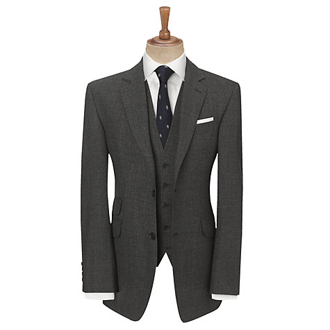 Buy John Lewis British Semi Plain Twist Suit Jacket, Charcoal Online at johnlewis.com