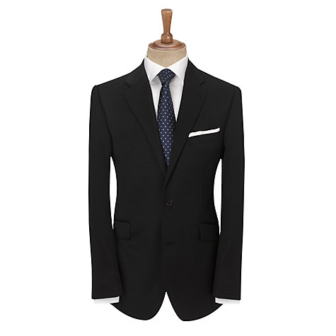 Buy John Lewis Tailored Stripe Travel Suit Jacket, Navy Online at johnlewis.com