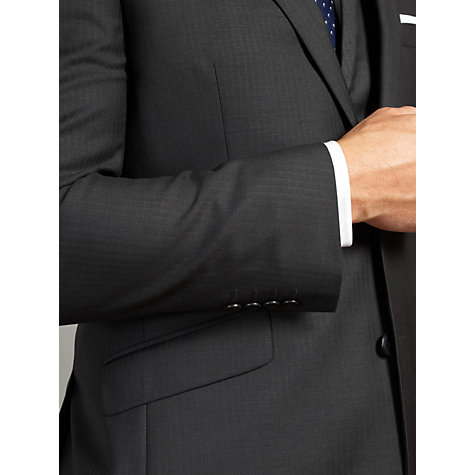 Buy John Lewis Tailored Wool Herringbone Suit Jacket, Charcoal Online at johnlewis.com