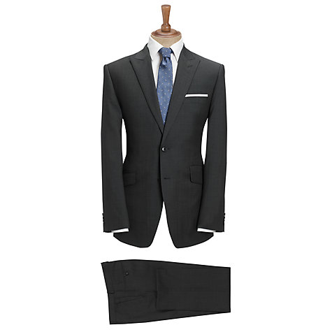 Buy John Lewis Tailored Tonic Suit Trousers, Charcoal Online at johnlewis.com