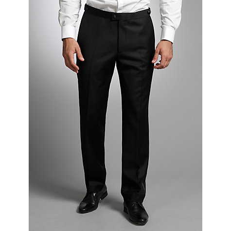 Buy John Lewis Tailored Peak Lapel Dress Suit Trousers, Black Online at johnlewis.com