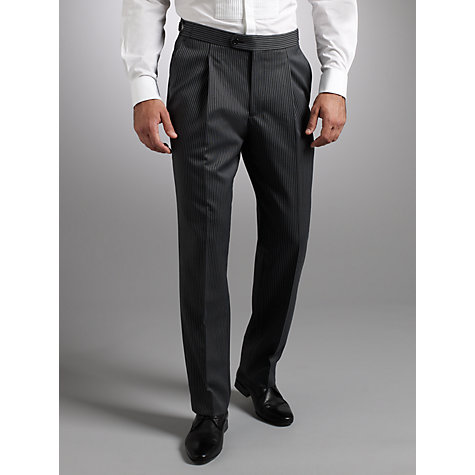 Buy John Lewis Tailored Morning Suit Trousers, Black Online at johnlewis.com