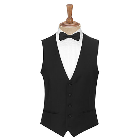 Buy John Lewis Tailored Morning Suit Waistcoat, Black Online at johnlewis.com