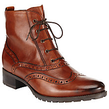 Buy John Lewis Cambridge Leather Zip Up Ankle Boots, Tan Online at johnlewis.com