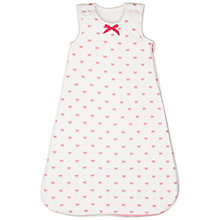 Buy John Lewis Baby Bows Sleeping Bag, 2.5 Tog, Raspberry Online at johnlewis.com