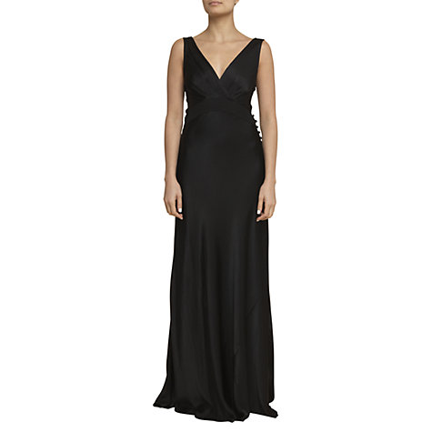Buy Ghost Monique Cross Front Dress, Black Online at johnlewis.com