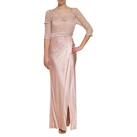 Buy Ghost Taya Lace & Satin Dress Online at johnlewis.com