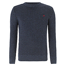 Buy Lyle & Scott Textured Stripe Jumper, Navy Online at johnlewis.com