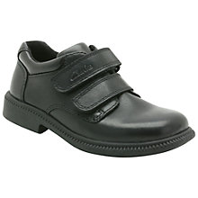Buy Clarks Deaton Leather Shoes, Black Online at johnlewis.com