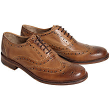 Buy Ben Sherman Qewy Leather Brogue Oxford Shoes, Tan Online at johnlewis.com