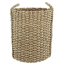 Buy John Lewis Braided Seagrass Round Basket Online at johnlewis.com