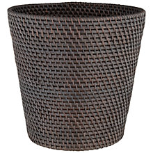 Buy John Lewis Rattan Open Basket, Dark Brown Online at johnlewis.com