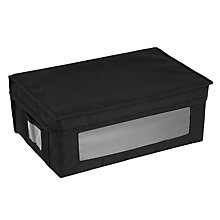 Buy John Lewis Polyester Folding Storage Box, Black Online at johnlewis.com
