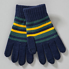 Buy John Lewis Boy Striped Touch Screen Gloves, Multi Online at johnlewis.com