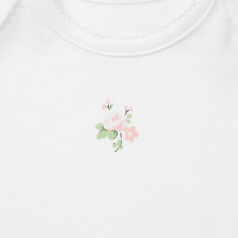 Buy John Lewis Baby Flower Bodysuits, Pack of 3, Pink Online at johnlewis.com