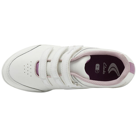 Buy Clarks Yoga Spin Trainers, White Online at johnlewis.com