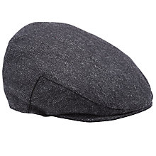 Buy John Lewis Herringbone Tweed Hat, Grey Online at johnlewis.com