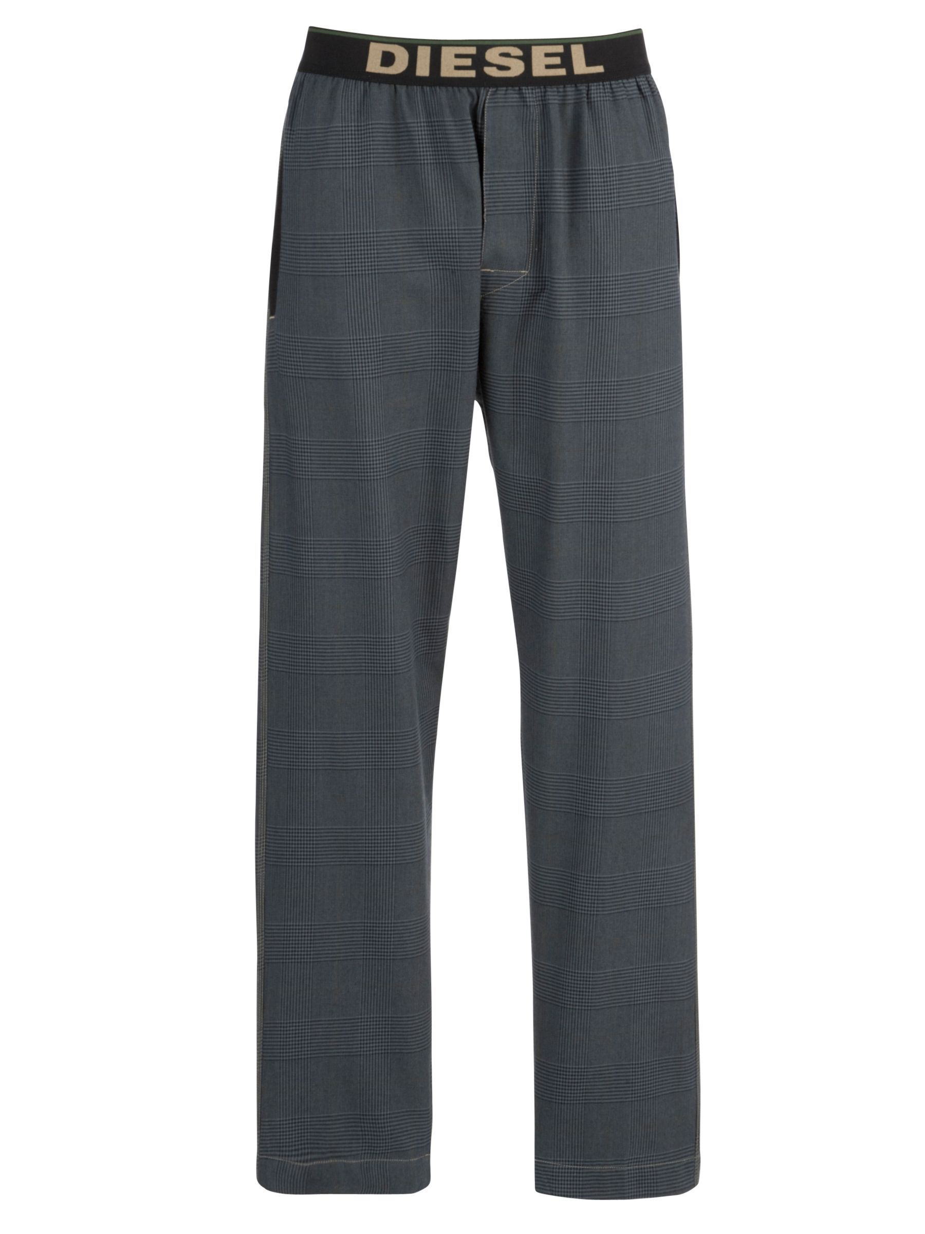 Diesel Micro Check Lounge Pants, Grey