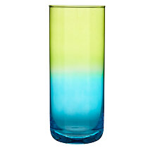 Buy LSA Mezzo Column Vases, Lime/Turquoise Online at johnlewis.com
