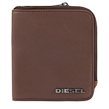 Buy Diesel Tabloy Grainy Leather Wallet, Tan Online at johnlewis.com