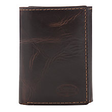 Buy Fossil Norton Trifold Leather Wallet, Brown Online at johnlewis.com