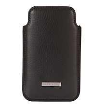 Buy Hugo Boss Barti Leather iPhone® Case, Black Online at johnlewis.com