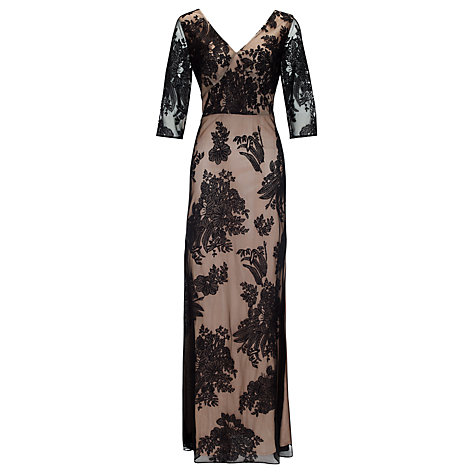 Buy Somerset by Alice Temperley Lace Long Dress, Black Online at johnlewis.com
