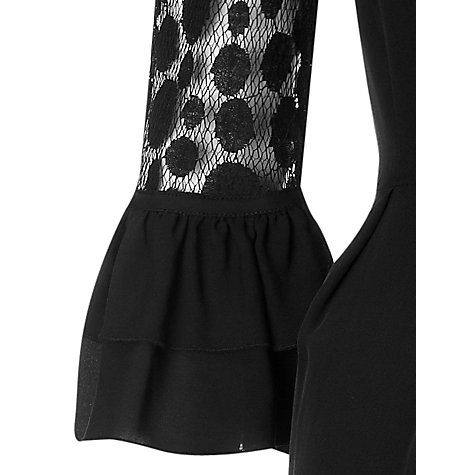 Buy Somerset by Alice Temperley Spot Mesh Shift Dress, Black Online at johnlewis.com