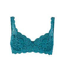 Buy Chantelle Rive Gauche Half Cup T-Shirt Bra, Emerald Online at johnlewis.com