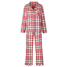 Buy John Lewis Fine Check Pyjama Gift Set, Green/Red Online at johnlewis.com