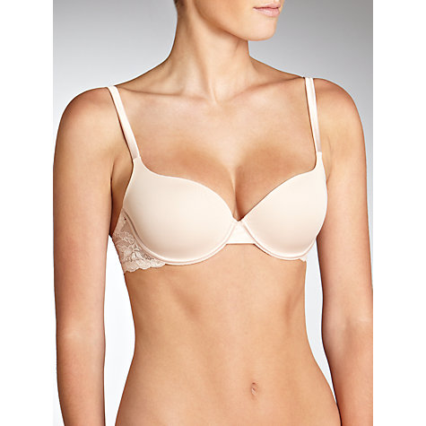 Buy John Lewis Padded Non-Wired Bra, Nude Online at johnlewis.com