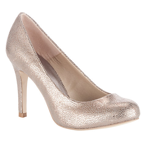 Buy John Lewis Cosmopolitan Stiletto Court Shoes, Gold Online at johnlewis.com
