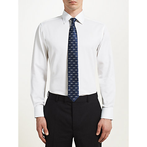 Buy Paul Costelloe Pique Slim Fit Shirt, White Online at johnlewis.com