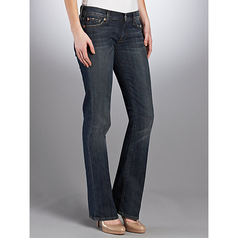 Buy 7 For All Mankind Mid Rise Bootcut Jeans, New York Dark Online at johnlewis.com