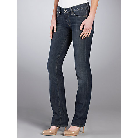 Buy 7 For All Mankind Straight Leg Jeans, New York Dark Online at johnlewis.com
