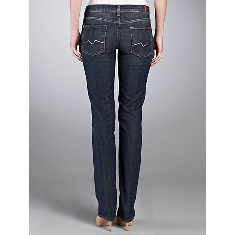 Buy 7 For All Mankind High Waist Straight Leg Jeans, New York Dark Online at johnlewis.com