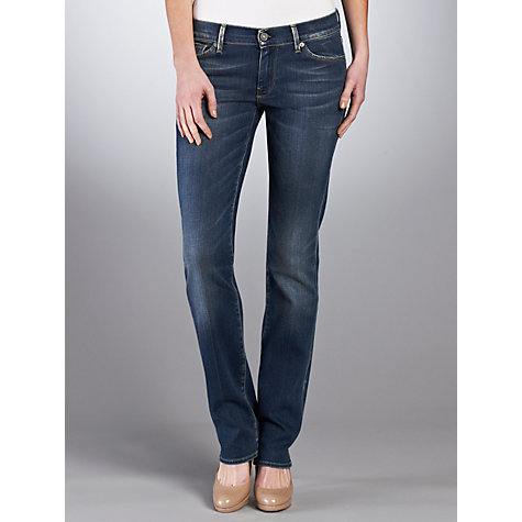 Buy 7 For All Mankind Mid Rise Straight Jeans, Miami Online at johnlewis.com