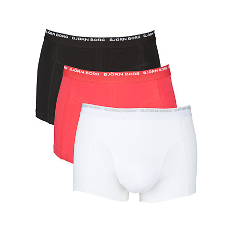 Buy Bjorn Borg Logo Trunks, Pack of 3 Online at johnlewis.com