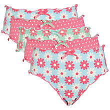Buy John Lewis Girl Floral/Spot Briefs, Pack of 5, Multi Online at johnlewis.com