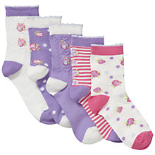 Buy John Lewis Girl Vintage Flower Socks, Pink/Purple Online at johnlewis.com