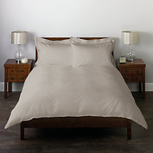 Buy John Lewis 400 Thread Count Cotton Sateen Simple Stitch Duvet Cover Set Online at johnlewis.com