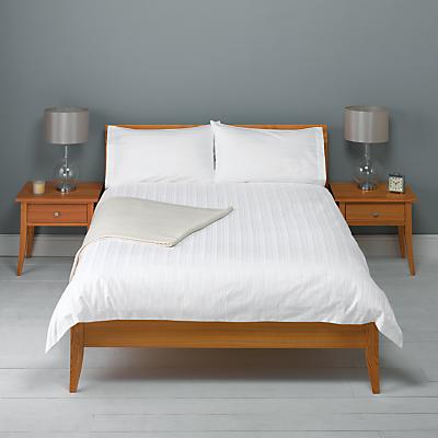 John Lewis 600 Thread Count Satin Stripe Duvet Cover and Pillowcase Set