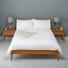 Buy John Lewis 600 Thread Count Satin Stripe Duvet Cover and Pillowcase Set Online at johnlewis.com