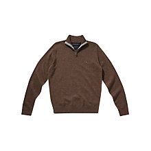 Buy Tommy Hilfiger Lambswool Knit 1/2 Zip Jumper Online at johnlewis.com