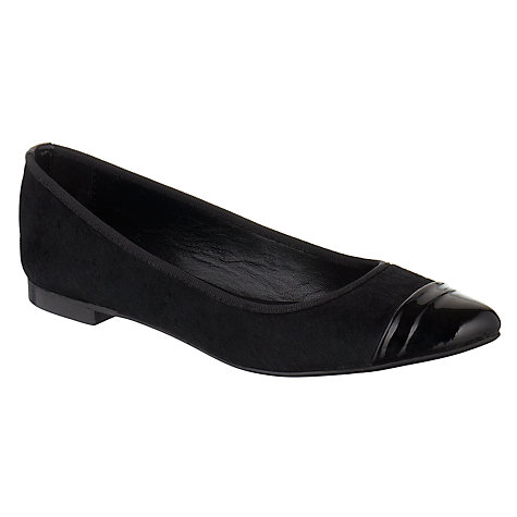 Buy Collection WEEKEND by John Lewis Pony Skin Stones Ballerina Pumps, Black Online at johnlewis.com
