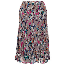 Buy Chesca Butterfly Print Crinkle Skirt, Sand Online at johnlewis.com