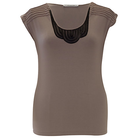 Buy Chesca Satin Trim T-Shirt Online at johnlewis.com